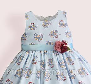 Платье для девочки Букет, голубой Zoe Flower, фото 2