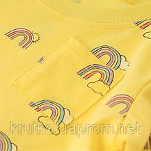 Платье для девочки Радуга, желтый Malwee, фото 3