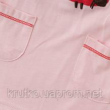 Костюм для девочки 2 в 1 Божья коровка, розовый Malwee, фото 3