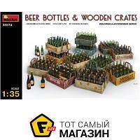 Модель 1:35 - Miniart - Beer Bottles & Wooden Crates (MA35574) пластмасса
