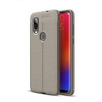 Чехол Auto Focus для Motorola Moto One Vision силикон Original Soft Touch серый
