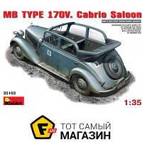Модель 1:35 автомобили - Miniart - MB Typ 170V. Cabrio Saloon (MA35103) пластмасса