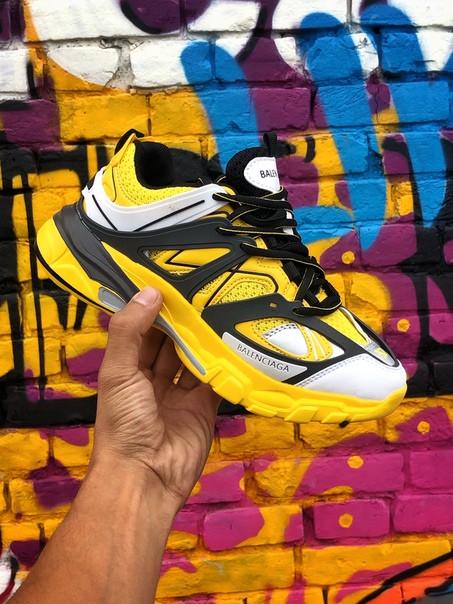 Кроссовки женские Balenciaga Track.Стильные женские кроссовки желтого цвета.