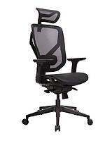 GTChair Vida V7-N (база НЕЙЛОН бюджетно) - кресло с динамичным дизайном, GT-27 (черный)