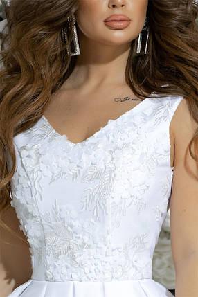 """Нарядное коктейльное мини-платье """"Мирабель"""" с гипюром и сеткой (2 цвета), фото 2"""
