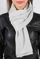 Женский светло-серый шарф с люрексом S-1
