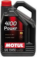 Моторное масло полусинтетика 15W50 Motul 4100 Power SAE 15W-50 ( 4л )