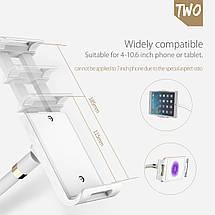 Гибкий механический держатель/подставка для планшета/смартфона Orico (Белый), фото 3