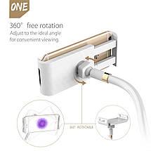 Гибкий механический держатель/подставка для планшета/смартфона Orico (Белый), фото 2