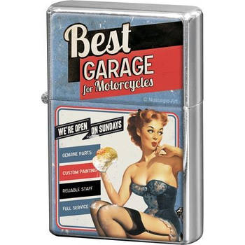 Зажигалка Nostalgic-Art Best Garage - Blue (80257)