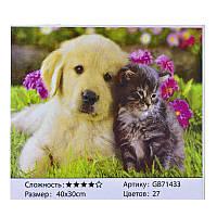 Алмазная мозаика GB 71433 (30) 40х30 см., 27 цветов, в коробке