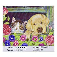 Алмазная мозаика GB 71492 (30) 40х30 см., 30 цветов, в коробке