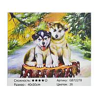 Алмазная мозаика GB 72270 (30) в коробке 40х30, 26 цветов