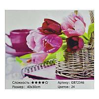 Алмазная мозаика GB 72346 (30) в коробке 40х30, 24 цвета
