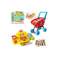 Игровой набор Супермаркет, тележка, касса, продукты