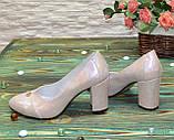 Туфли женские кожаные на высоком каблуке, цвет розовый, фото 2