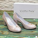 Туфли женские кожаные на высоком каблуке, цвет розовый, фото 3