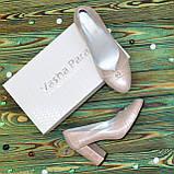 Туфли женские кожаные на высоком каблуке, цвет розовый, фото 6