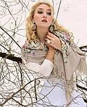 Аромат любви 1378-1, павлопосадский платок (шаль, крепдешин) шелковый с шелковой бахромой, фото 4