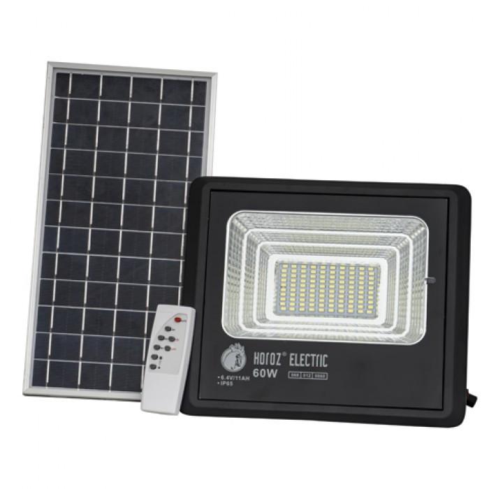 Светодиодный уличный прожектор на солнечной батарее Тiger-60 60w 6400К IP65 Код.59622