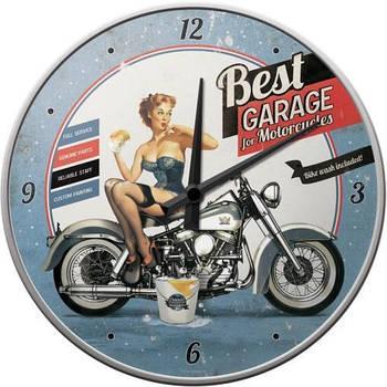 Настенные часы Nostalgic-art Best Garage - Blue (51043)