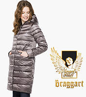 Воздуховик Braggart Angel's Fluff 18225 | Женская куртка весенне-осенняя темная пудра