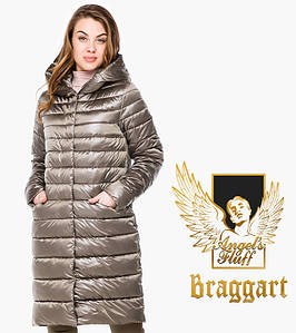 Воздуховик Braggart Angel's Fluff 18225 | Осенне-весенняя женская куртка капучино