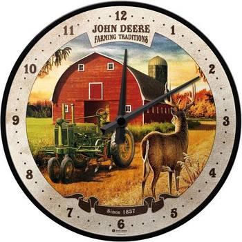 Настенные часы Nostalgic-art John Deere - Farming (51066)