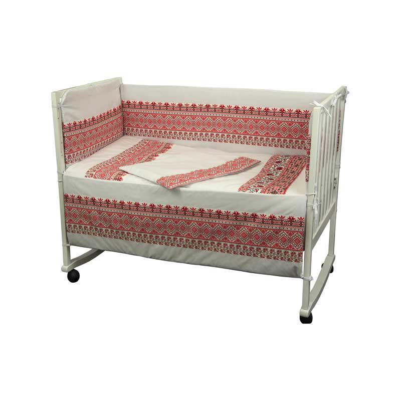 """Набор в детскую кровать размер 60х120 """"Словяночка"""" """"Красный"""""""