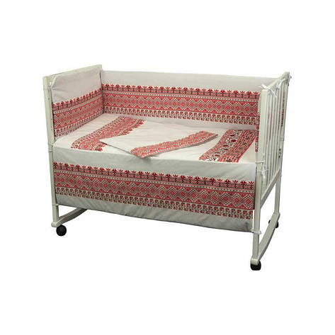"""Набор в детскую кровать размер 60х120 """"Словяночка"""" """"Красный"""", фото 2"""