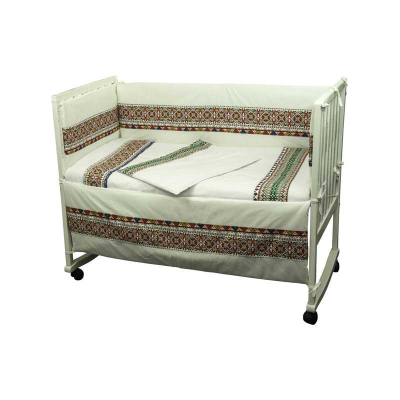 """Набор в детскую кровать размер 60х120 """"Словяночка"""" """"Зеленый"""""""
