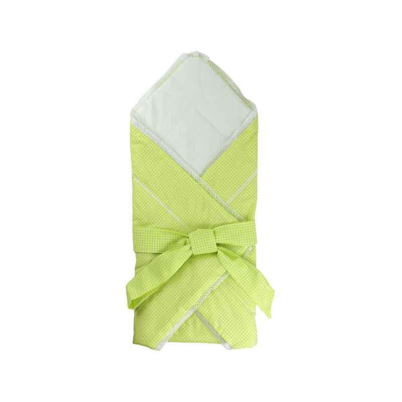 """Одеяло-конверт для новорожденных """"салатовый"""""""