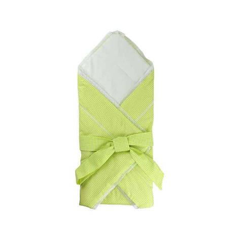 """Одеяло-конверт для новорожденных """"салатовый"""", фото 2"""