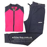 Костюм женский adidas спортивный DV2437 цвет: розовый / синий оригинальный