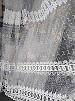 Турецкая тюль ширина 290 см сублимация узор 1 цвет молочный