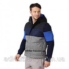 Жилет мужской оригинальный Reebok F VEST SMU CV5054 цвет: серый/синий