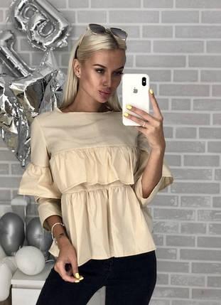 Женская блузка с воланами, фото 2
