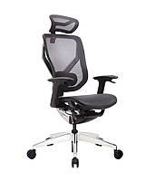 GTChair Vida V7-X (управление на подлокотниках) - кресло с динамичным дизайном, черное