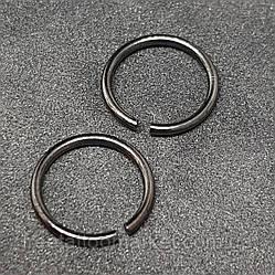 Кольцо с разгибом (черное) 1.2 х 10мм
