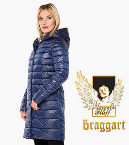 Воздуховик Braggart Angel's Fluff 18225 | Куртка осень-весна женская длинная сапфировая