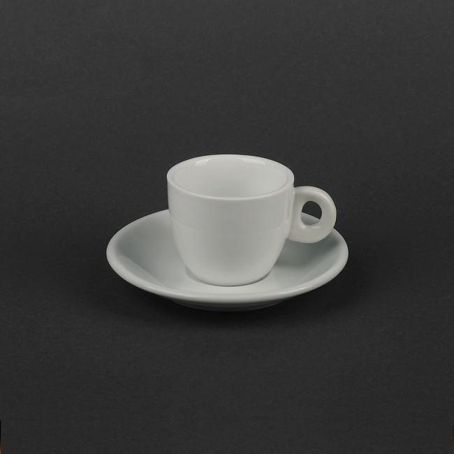 Чашка фарфоровая белая 75мл с блюдцем для эспрессо