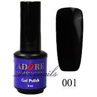 Гель-лак Adore Professional № 001 (черный), 9 мл