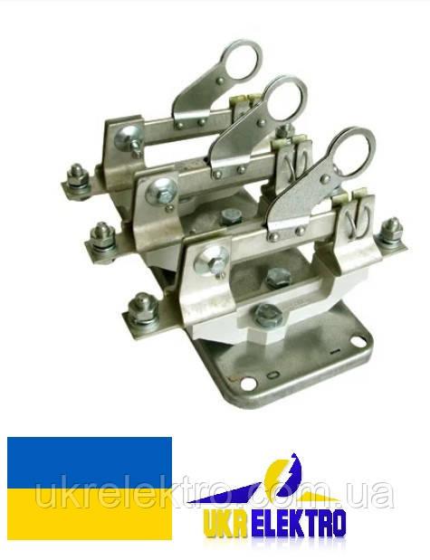 Разъединитель РЕ19-31-311600 100А трехполюсный переднего присоединения с рычагом для оперирования штангой