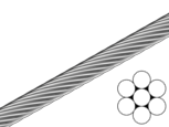 Трос DIN 3052 1мм, 1х7, цб