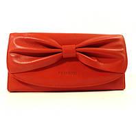Кожаный кошелек Prensiti 42001 красный, расцветки в наличии