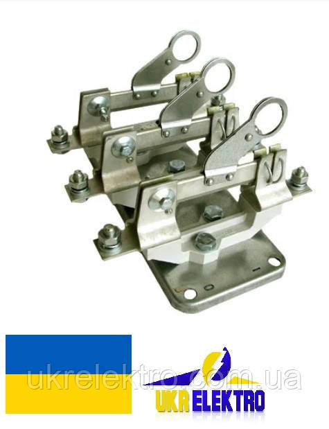 Разъединитель РЕ19-37-311600 400А трехполюсный переднего присоединения с рычагом для оперирования штангой