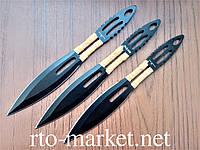 Ножи метательные(silver-black) комплект 3 в 1