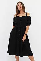 S, M, L   Зручне повсякденне плаття Francheska, чорний L (46-48)