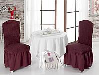 Чехол на стул с юбкой Бордовый Home Collection Evibu Турция 50110