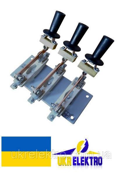 Разъединитель РЕ19-37-311700 400А 3 полюсный переднего присоединения с рукояткой для пополюсного оперирования